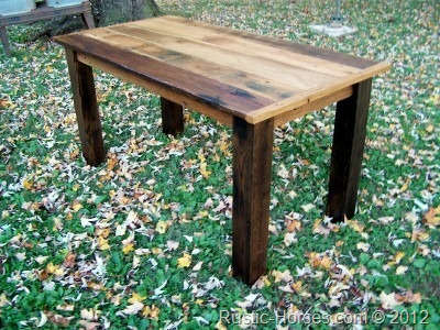 desk table 101411 w/ black stained legs