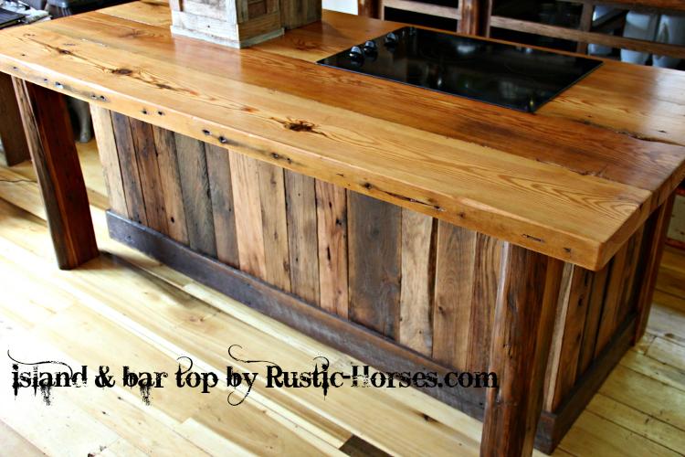 Kitchen Island Bar top | Rustic-Horses.com